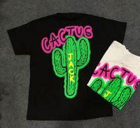 chemise chemise achat en gros de-2019 NEW TRAVIS SCOTT Astroworld tournée jack cactus Lettre T shirt Palm Angels hip hop planche à roulettes hommes femmes à manches courtes Cotton Tee S-XL