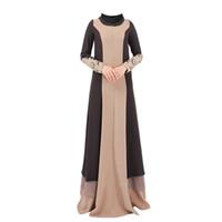 мода исламских платьев оптовых-Fashion Chiffon Plus size islamic clothing muslim turkish dresses abayas for women abaya dubai bangladesh hijab dress caftan