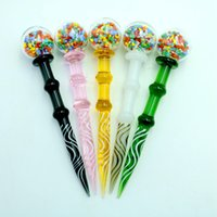 Wholesale wholesale tools for sale - 4 inch Dabbers Glass Ball Carb Cap Dabber Tools with Colorful Thick Pyrex Glass Wax Dabber For Quartz Bang Enail
