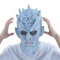ingrosso volti zombie per halloween-Game Of Thrones Maschera di Halloween Night's King Walker Face Night Re Zombie Maschera di lattice Adulti Cosplay Trono Costume Party Maschere J190710