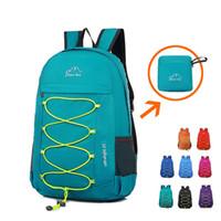 koreanische modische rucksäcke großhandel-Wasserdichte Faltung Outdoor-Sport-Rucksack Taschen koreanische modische Reiserucksäcke Haut Taschen Nylontasche für Unisex