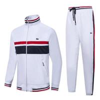 yüksek markalı giyim ceketi toptan satış-Fransız marka erkek tasarımcı Eşofman High-end rahat golf giyim ceket erkek sonbahar kış sıcak ceket moda spor yaka giysi
