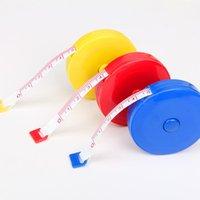 aparatos de sala al por mayor-2 piezas de cuerpo retráctil regla de medición de costura de tela a medida cinta métrica blanda 60