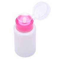 botellas removedor de esmalte de uñas al por mayor-1 Unid De Plástico Vacío Nail Polish Remover Container Alcohol Clear Press Dispenser Botella de Bombeo Nail Art UV Gel Cleaner Pump Bottle