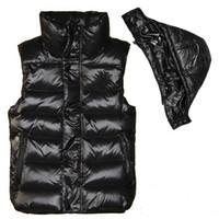 Wholesale mens acrylic winter jacket resale online - Men and women winter down vest feather weskit jackets womens casual vests coat mens down coat outer wear