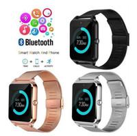 nfc uhr großhandel-Luxus Bluetooth Smart Watch Z60 SmartWatch Telefon NFC-Unterstützung SIM TF-Karte Wearable Devices SmartWatch für iOS Android VS Q18 Smart-Uhren