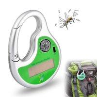 sivrisinek güneş böcek öldürücü toptan satış-Açık Taşınabilir Elektronik Güneş Sivrisinek Böcek Katil Kovucu Kanca Tipi Haşere Kovucu Pusula ile Güneş Sivrisinek Ultrasonik