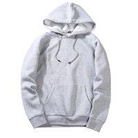 camisola encapuçado venda por atacado-Nova Moda Colorido Hoodies dos homens Engrossar Roupas de Inverno Camisolas Dos Homens Hip Streetwear Sólida Homem De Lã Com Capuz