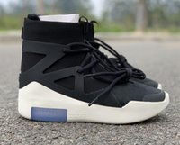 Wholesale boot online - With Box Air Fear of God Boots Fashion Designer Shoes FOG Outdoor Boots Black Grey White Zoom Sneakers Size free shippment