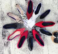 ingrosso tacchi dei balletti-donne Shallow mouth Balletto Scarpe incinte tacco piatto Fondo morbido Scarpe da lavoro scarpe da lavoro casual moda stile Euramerican