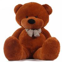gran peluche de piel al por mayor-160/180 cm cuatro colores gran oso de peluche de piel juguetes de peluche de peluche de oso de juguete de alta calidad regalos de cumpleaños para niños