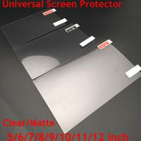 antideslumbrante para ipad al por mayor-Universal, 5/6/7/8/9/10/11/12 pulgadas Protectores de pantalla transparente o mate película protectora para el teléfono móvil / tableta / GPS del coche del LCD / MP3 4