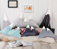 Wholesale handmade cushion dolls for sale - Group buy Lovely Mountain Peak Shape Cushion Pillow Bed Decoration Calm Sleep Dolls Plush Toys Nordic Kids Room Decor