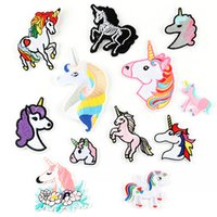 Wholesale baby jeans embroidery for sale - Group buy Cartoon Animal Unicorn Embroidery Patches Fabric Sew Iron On Applique Patch Badge DIY Apparel Badges For Baby Kids Clothes Jeans Bag