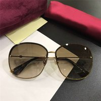 Wholesale butterfly inspired fashion resale online - luxury inspired gold glitter Sunglasses S gold brown shaded Women des lunettes de soleil luxury Designer glasses Gafas de sol New