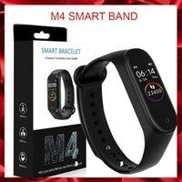 pulseira de saúde pulseira venda por atacado-M4 inteligente Banda de Fitness Rastreador relógio de pulseira de freqüência cardíaca relógio inteligente 0,96 polegadas Smartband Health Monitor Pulseira