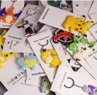 Wholesale charmander keychain resale online - Keychain cm Style Pikachu Charmander Bulbasaur Squirtle Dragonite Eevee Mewtwo Snorlax PVC Keychain Action Figure For Party Gifts