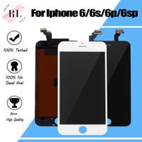 iphone bildschirme ersatzteile großhandel-LCD-Anzeige für iPhone 6 6S 6 Plus LCD-Bildschirm mit Touch-Digitizer Komplettbild Vollversammlung Ersatz