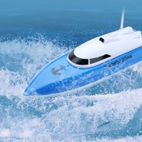 barco de plástico para niños al por mayor-802 Control remoto Modelo de yate Barco Navegación Plástico Niños Juguete eléctrico Control remoto Pesca RC Barcos Lancha rápida