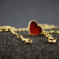 pulseira de borracha de 14k venda por atacado-Mulheres Tassel Pulseira Coração Outro Pérola Designer De Jóias De Luxo 14k Ouro Borboleta Pulseiras Encantos Jóias Finas