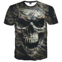 vendendo camisas 3d venda por atacado-Venda quente tshirts novas camisas de t crânio moda homem top camisas Tees tops meninos camisas dos homens t 3d impressão crânio camo t camisa