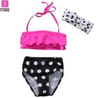 Wholesale sexy baby clothes resale online - Hot cute kids sexy Summer Baby Girl Swimsuit Polka Dots Bikini Set Girls Bathing Suit Swimwear Swimming Swimmer Costume Clothes