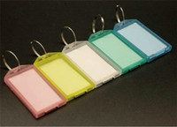 Wholesale keychain id tags for sale - Group buy 100pcs Colorful Plastic Key Fobs Luggage ID Card Name Label Tag Keyring Keychain Classification R384
