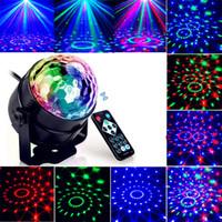 top ses efektleri toptan satış-Led Disko Işık Sahne Işıkları DJ Disko Topu Lumiere Ses Aktif Lazer Projektör etkisi Lamba Işık Müzik Noel Partisi