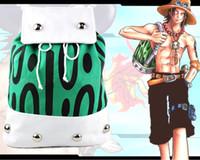 um saco de escola pedaço venda por atacado-Anime One Piece Bag Portgas D Ace Cosplay Mochila Bolsa de Ombro de Lona Sacos De Viagem Da Escola Unisex Presente