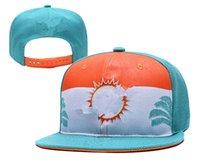 yeni yunus şapkaları toptan satış-Erkek kadın Miami Daha fazla renk Yüksek kalite örgü futbol kap Yunuslar 2019 yeni Amerikan futbolu Şapka