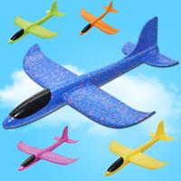 uçan kayıklar oyuncakları toptan satış-2018 DIY El Atmak Uçan Planör Uçaklar Oyuncaklar Çocuklar Için Köpük Uçak Modeli Parti Çanta Dolgu Uçan Planör Düzlem Oyuncaklar Oyun