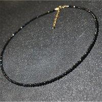 ingrosso colletto in tallone nero-Nuove donne di moda collare gioielli semplici perle di cristallo nero choker collane per le ragazze regali di partito bijoux femme gioielli dichiarazione