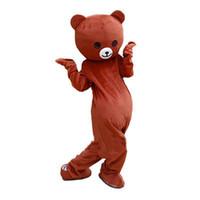 osito de peluche de anime al por mayor-2019 alta calidad rilakkuma mascota teddy bear anime traje de la mascota envío gratis