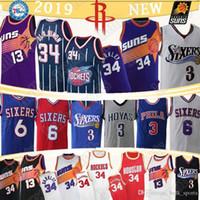 iverson trikots großhandel-34 Olajuwon 34 Barkley Jersey 13 Nash All 3 Iverson Hakeem 6 Erving retro Basketball-Trikots
