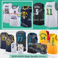 dallas 77 Doncic mavericks jersey 30 Curry 35 Durant 2019 New City Nuggets jersey  Nikola 15 Jokic Donovan 45 Mitchell 5 Bamba Jerseys 2d890aa61