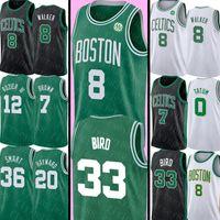 36 jersey venda por atacado-NCAA Kemba Walker 8 Jersey Larry 33 Pássaro Jayson 0 Tatum Jersey Universidade Jaylen 7 Brown 20 Hayward Marcus 36 Jerseys inteligentes