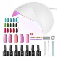 uv gel nail set 36w venda por atacado-Venda Por Atacado LED Gel Nail Art Set 36W Gel UV Secador Light TopBase Manicure Set bc