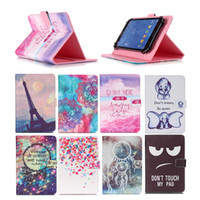 Wholesale galaxy tab3 leather case for sale - Group buy Cartoon Printed Universal inch Tablet Case for Lenovo Tab Cases kickstand PU Leather Flip Cover Case for Lenovo Tab3