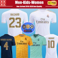 camiseta de fútbol de bala al por mayor-2019 2020 Real Madrid camisetas de fútbol HAZARD Soccer Jerseys Kit 19 20 PELIGRO MILITAO MODRICA Kids Jersey BALE SERGIO RAMOS ASENSIO camisetas de fútbol niños