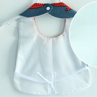 Wholesale cute cleaning aprons resale online - Cute Cartoon Baby Bibs Burp Cloth Infant Baby Vest Bib Baby Feeding Sleeveless Bibs Apron Cleaning Care Supplies