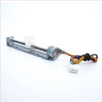 step motorlu makina toptan satış-12 V Step Motor İnme 80mm DIY Küçük Lazer Oyma Makinesi için Kaymak Motorlu