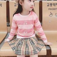 yapraklar çocuklar giyim toptan satış-Çocuklar Bebek Kız Örgü Kazak Sevimli bebek Petal Yaka Prenses Kazak kış bebek Kız pembe Giyim