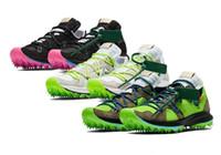 ingrosso scarpe da corsa mens soft soft-Zoom Terra Kiger 5 2019 Scarpe morbide a spillo Scarpe da corsa per uomo triplo Scarpe da donna Originali Sneakers a 5 pollici in camoscio giallo verde rosa