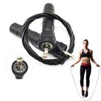jump ropes rolamentos venda por atacado-PVC Skipping Jump Corda Ajustável Rolamentos de Esferas de Aço Não Slip Apertos Cabo para Fitness Gym WHShopping