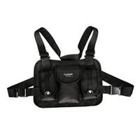 модные жилеты для мужчин оптовых-Women Men Functional Streetwear Chest Bag Sports Vest Adjustable Fashion Backpack Hip Hop Shoulder Fanny Pack Nylon Waist