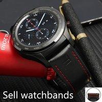 banda de reloj huawei al por mayor-2019 NUEVAS llegadas Cuero de moda de 22 mm con caucho Correa de reloj de reemplazo rápido para Huawei Watch 2 pro Muñequera