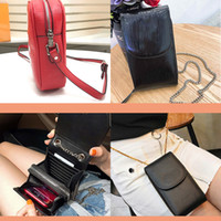 Wholesale soft water bags resale online - Designer purse Credit Card Holder Full range of leather luxury wallet mobile phone bag water ripple new diagonal cross bag top leather