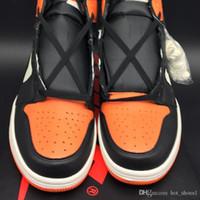 zapatos de baloncesto de las mujeres de buena calidad al por mayor-Air 1 High OG Shattered Backboard 555088-005 1s I Kicks Mujeres Hombres Zapatos deportivos de baloncesto Zapatillas de deporte Zapatillas de deporte Buena calidad con caja original