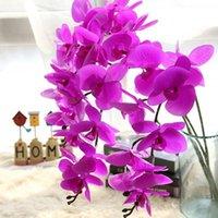 ingrosso farfalla di orchidea di falena artificiale-Fiori artificiali Real Touch Artificiale Lepidottero Orchidea Farfalla Orchidea per la casa nuova Casa Decorazione di nozze Decorazione Fiori di seta Orchidee