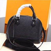 el çantası deri orijinal markalı toptan satış-Ücretsiz Kargo! ALMA BB Shell çanta Yüksek kaliteli hakiki deri omuz çantaları Klasik ipe Kadınlar Ünlü Marka tasarımcı Çantalar Çantanızı kontrol